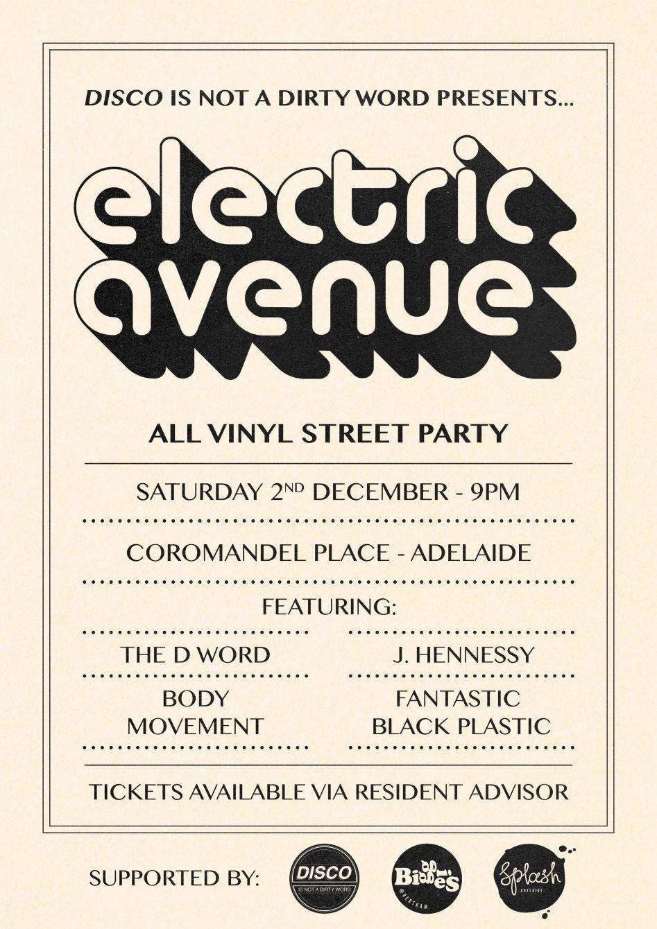 Electric Avenue - Flyer back