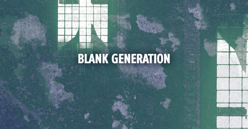 Blank Generation /w. Dr. Rubinstein / Benedikt Frey / Magna Pia and More - Flyer front