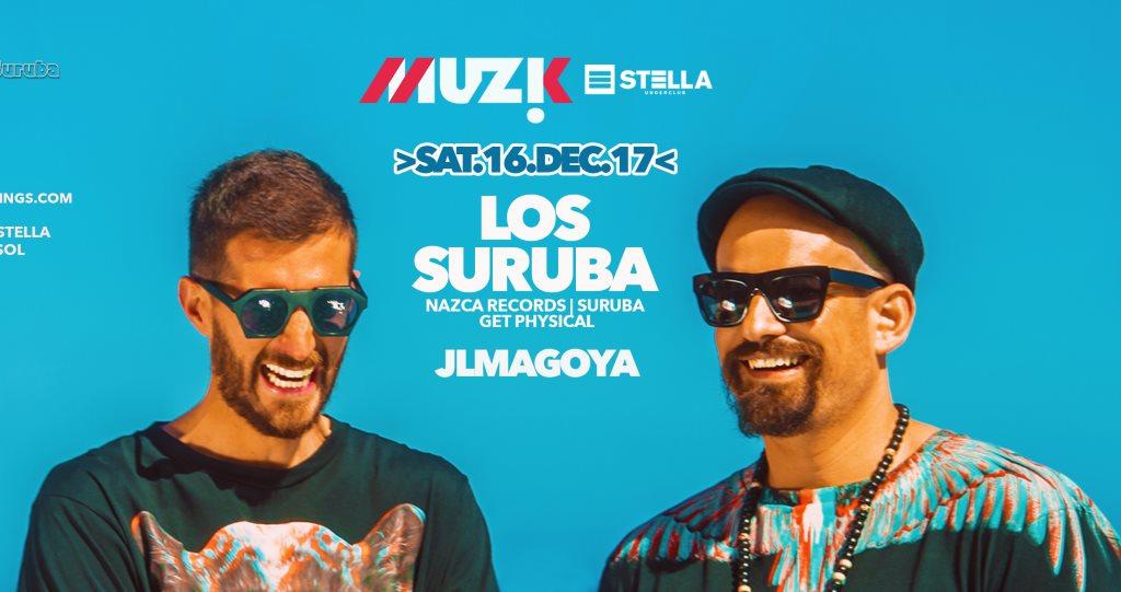 Muzik: Los Suruba - Flyer front