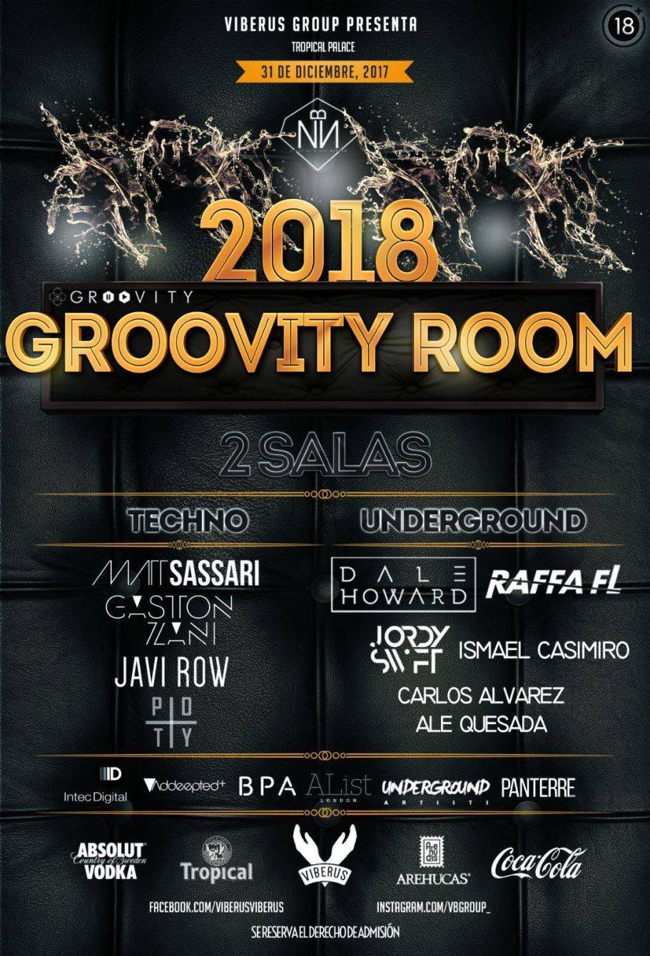 Groovity Room - Flyer front