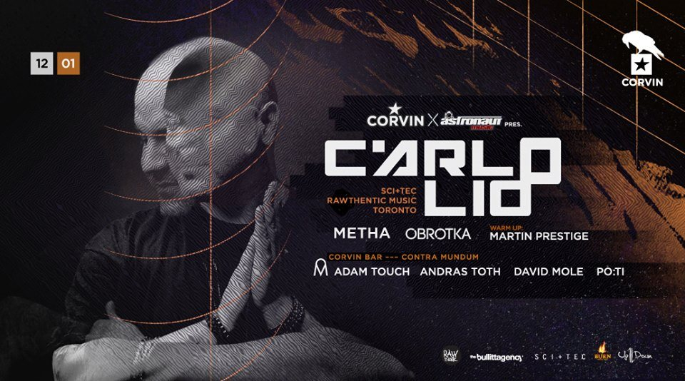 Carlo Lio at Corvin Club - Flyer front