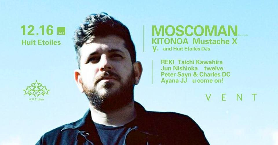 Moscoman at Huit Etoiles - Flyer front
