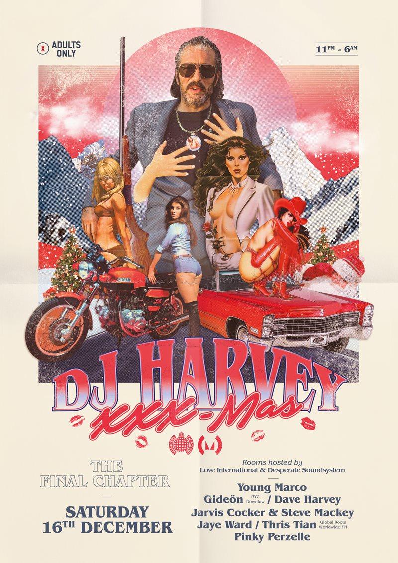 DJ Harvey's XXX-Mas - Flyer front