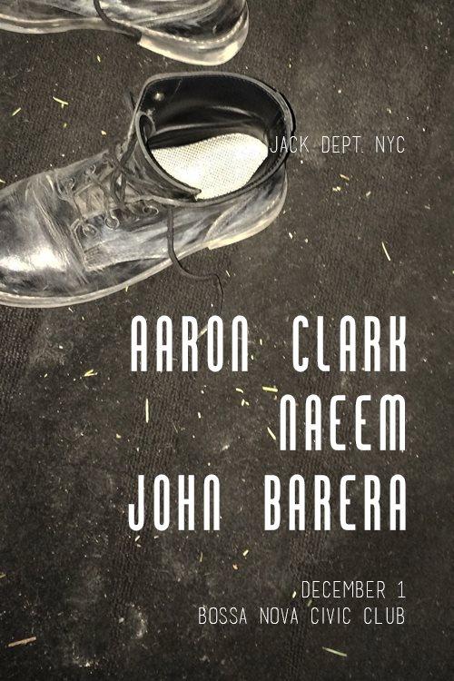 JACK DEPT. NYC / Hot Mass Showcase with Aaron Clark, Naeem & John Barera - Flyer front