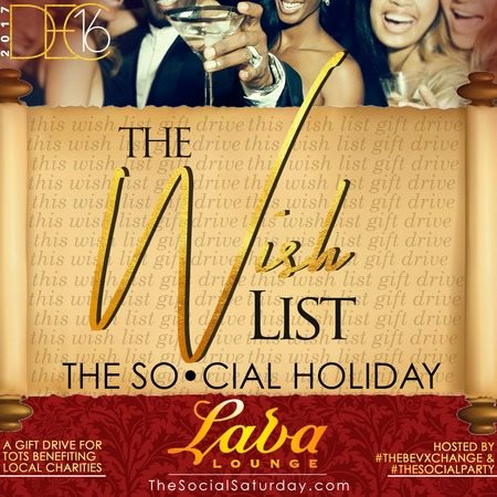 Wish List at The Social Holiday - Flyer front