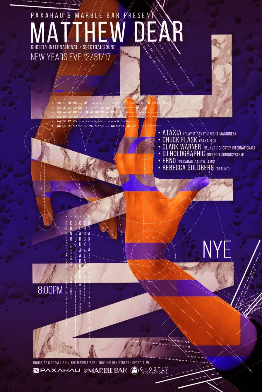 Matthew Dear and Friends - New Year's Eve - December 31 - Flyer front
