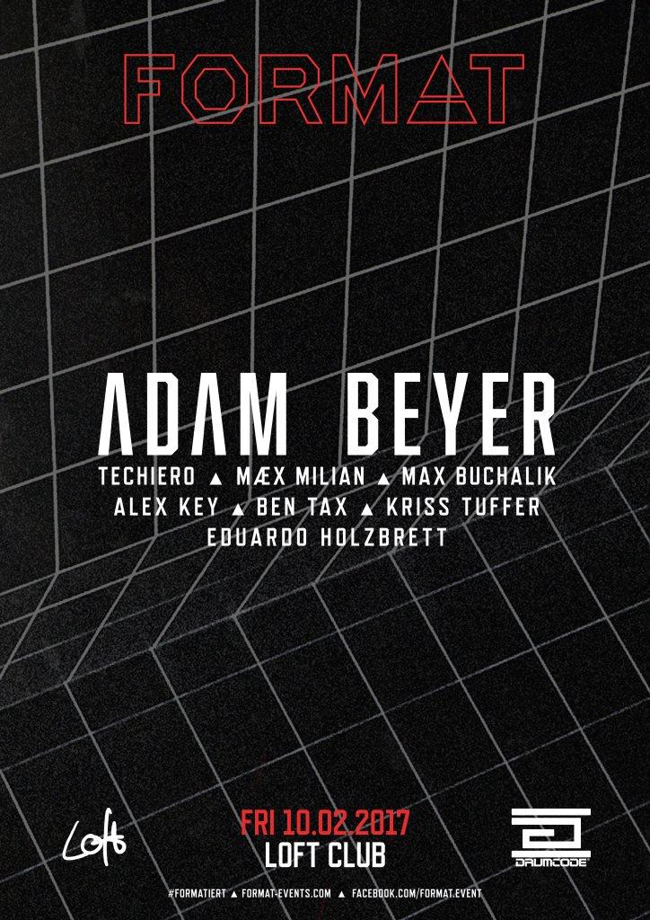 Format presents Adam Beyer - Flyer front