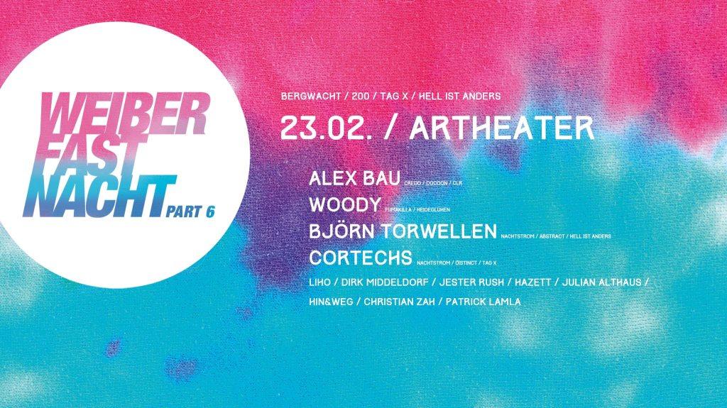 Weiberfastnacht im Artheater Part VI: Alex BAU • Woody • uvm - Flyer front