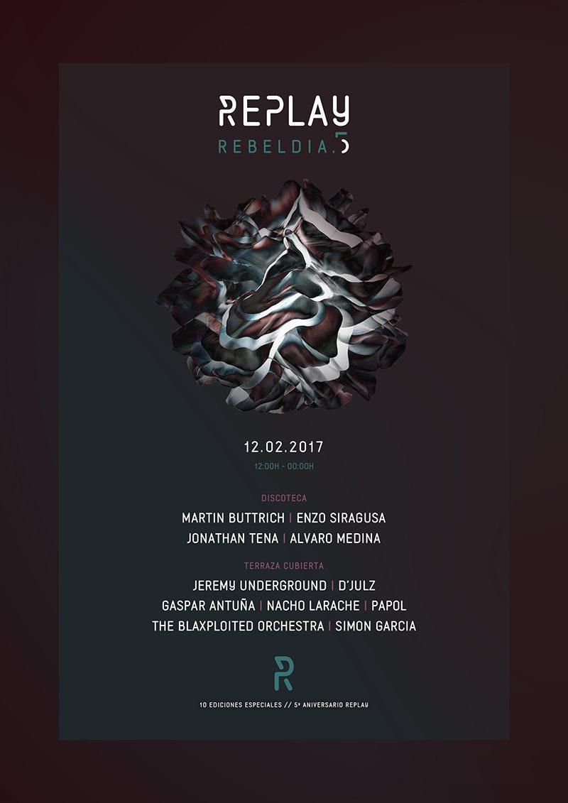 Replay Rebeldía - Flyer front