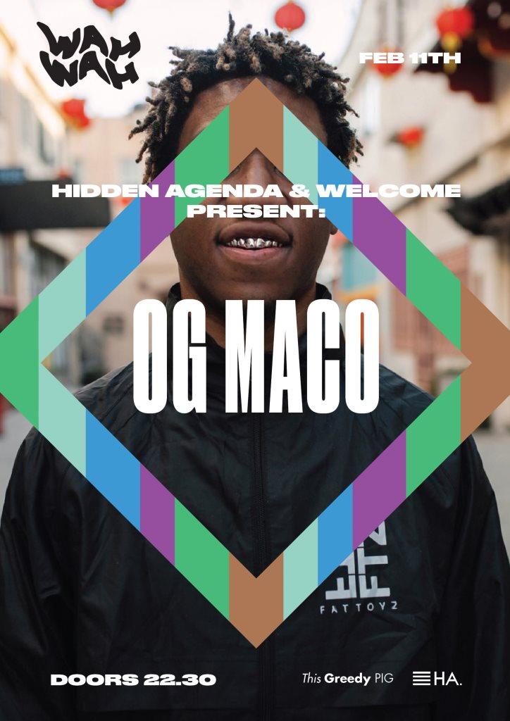 (Cancelled) OG Maco - Flyer front