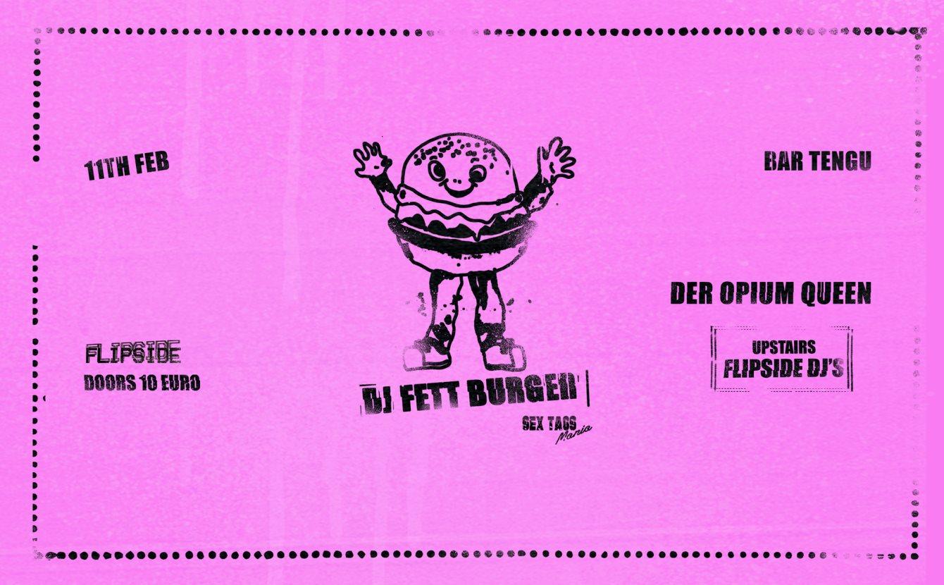Flipside: Dj Fett Burger - Flyer front