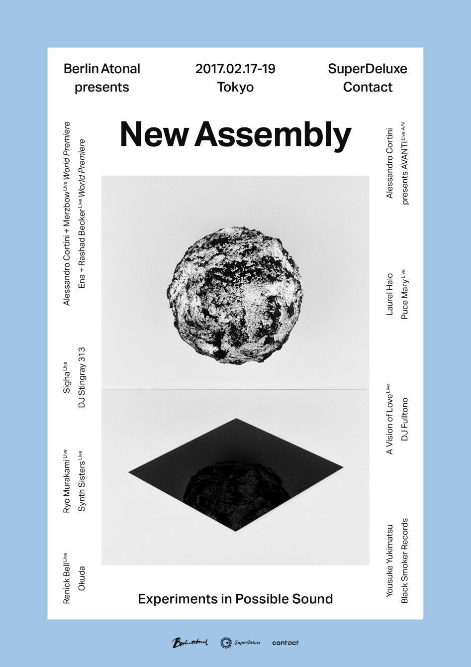 Berlin Atonal presents New Assembly Tokyo - Opening Concert - Flyer back