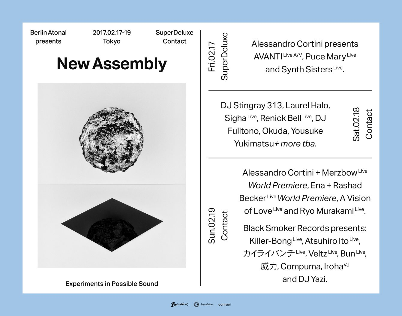 Berlin Atonal presents New Assembly Tokyo - Opening Concert - Flyer front