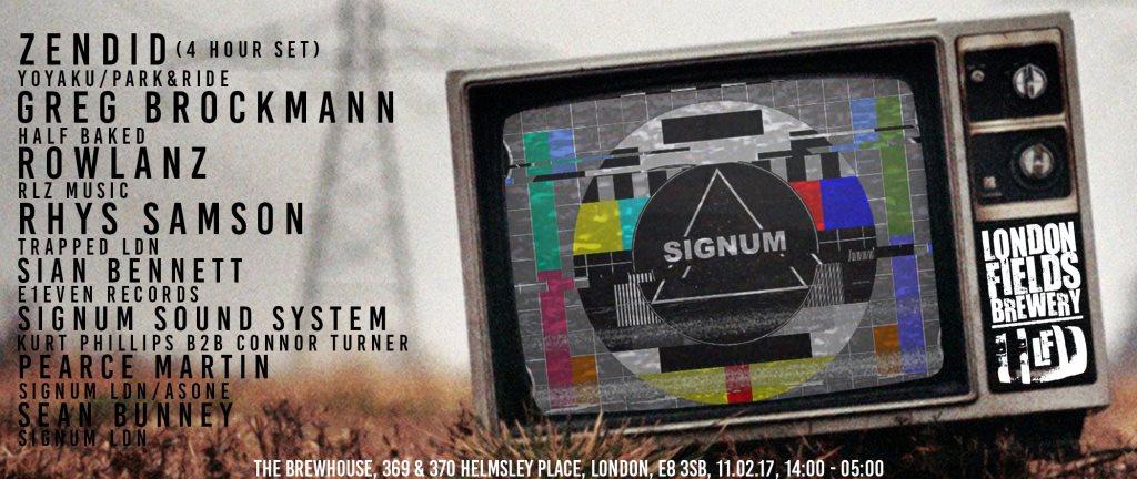 Signum 002 Zendid (4hrs) +More - Flyer front