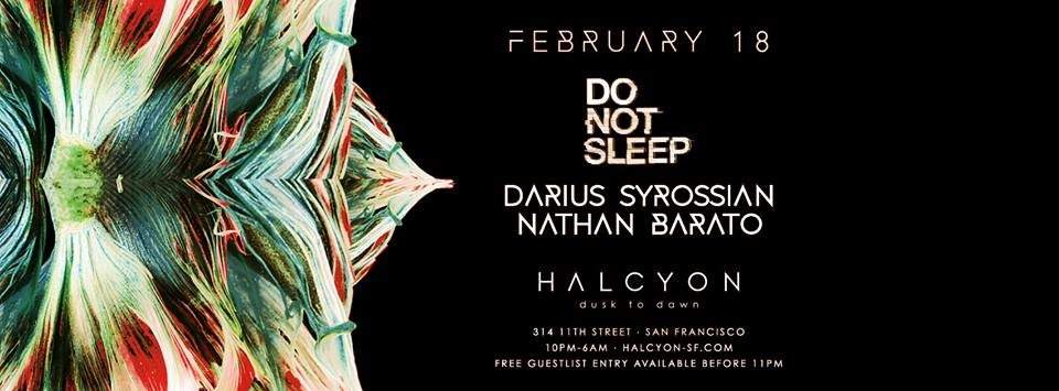 Do Not Sleep with Carlo Lio & Nathan Barato - Flyer front