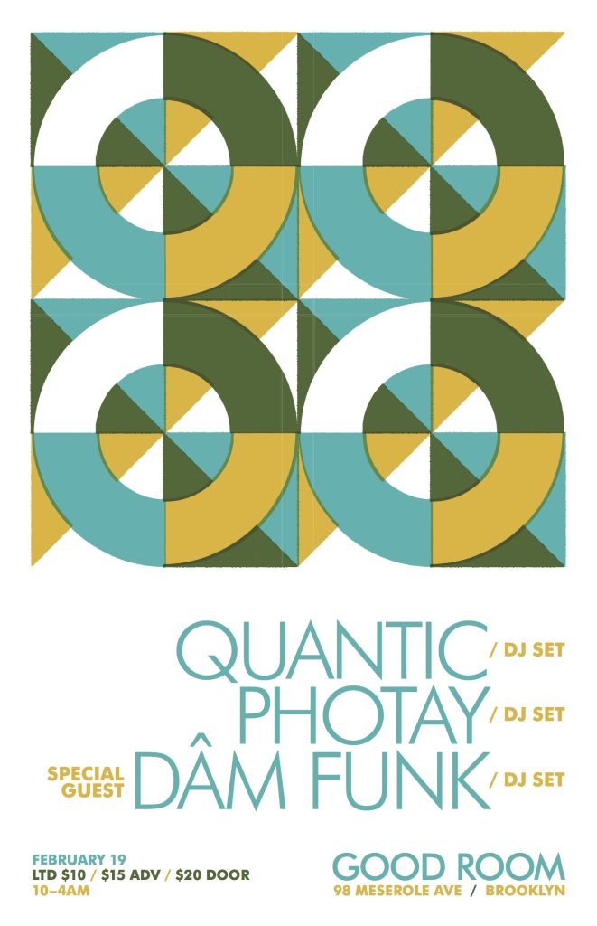 Quantic Residency with Photay and Dâm Funk (DJ Set) Plus Justin Strauss & Billy Caldwell - Flyer front