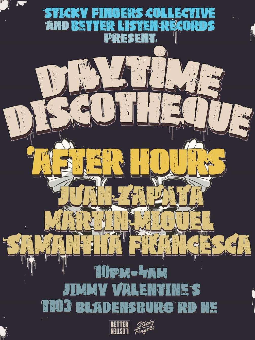 Daytime Discothèque Feat. Byron The Aquarius with Boss Ross, Baronhawk Poitier, Hot Coffee - Flyer back