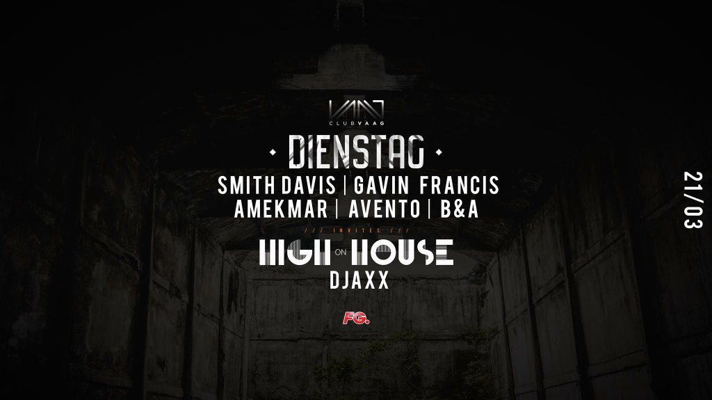 Dienstag x High on House - Flyer front