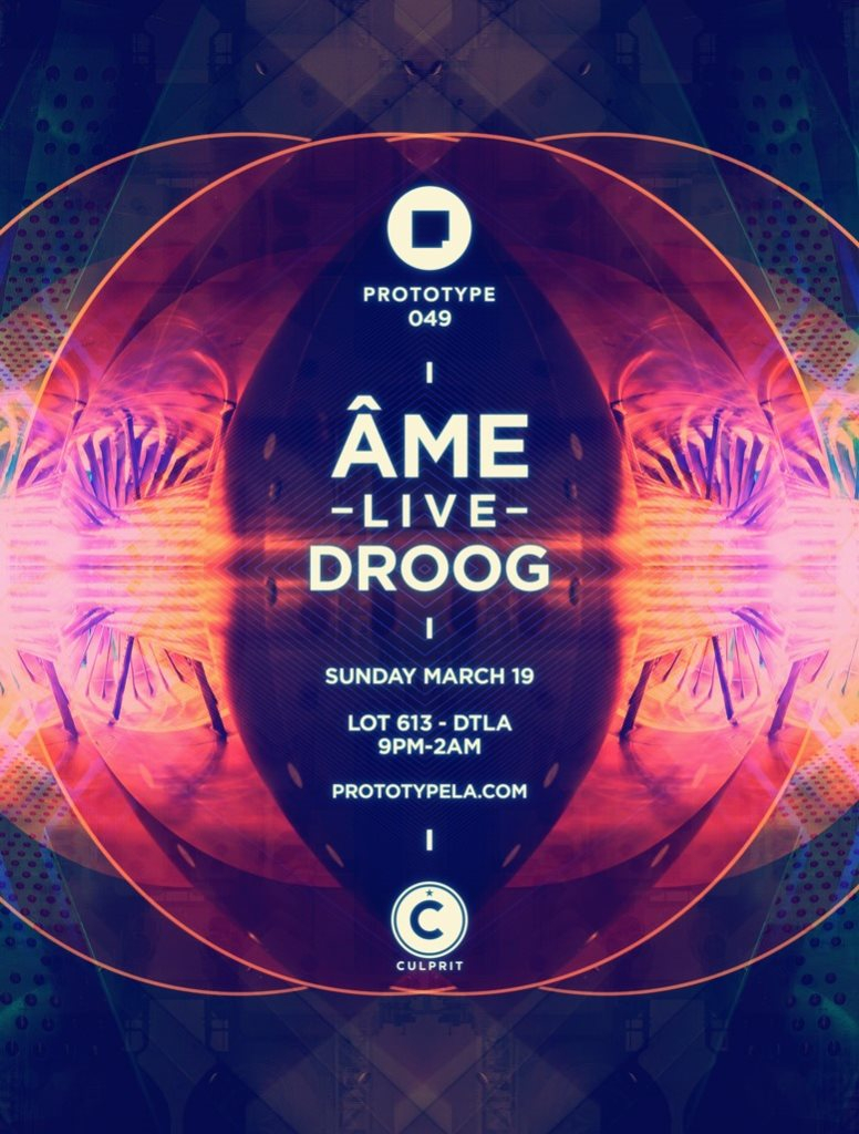 Prototype 049: Culprit with Ame Live & Droog - Flyer front