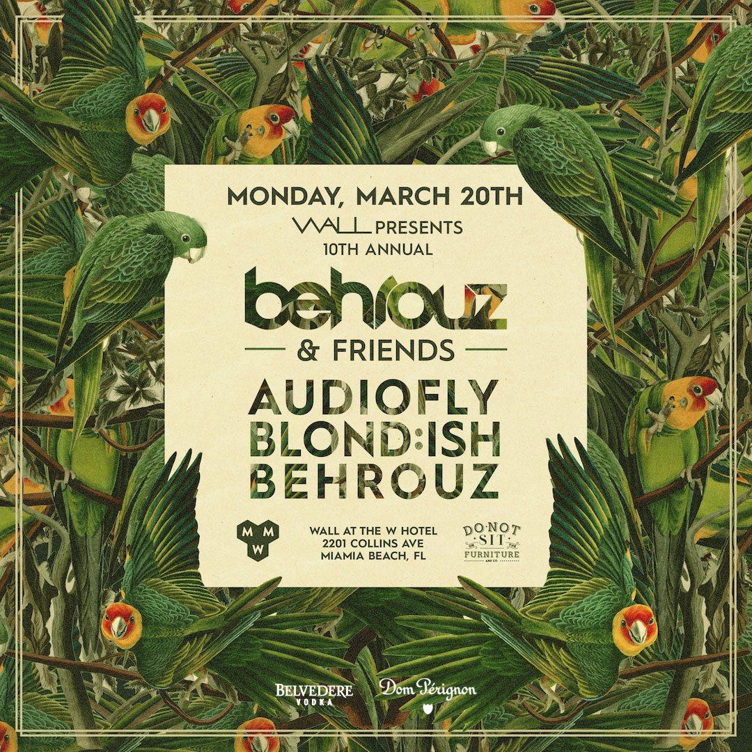 Wall Music Week 2017 - 10th Annual Behrouz & Friends - Flyer front