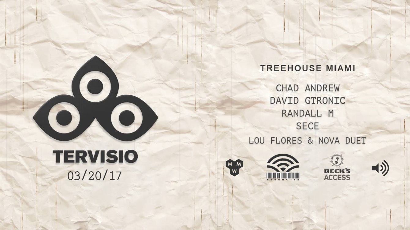 Tervisio with Chad Andrew, David Gtronic, Randall M & Sece - Flyer front