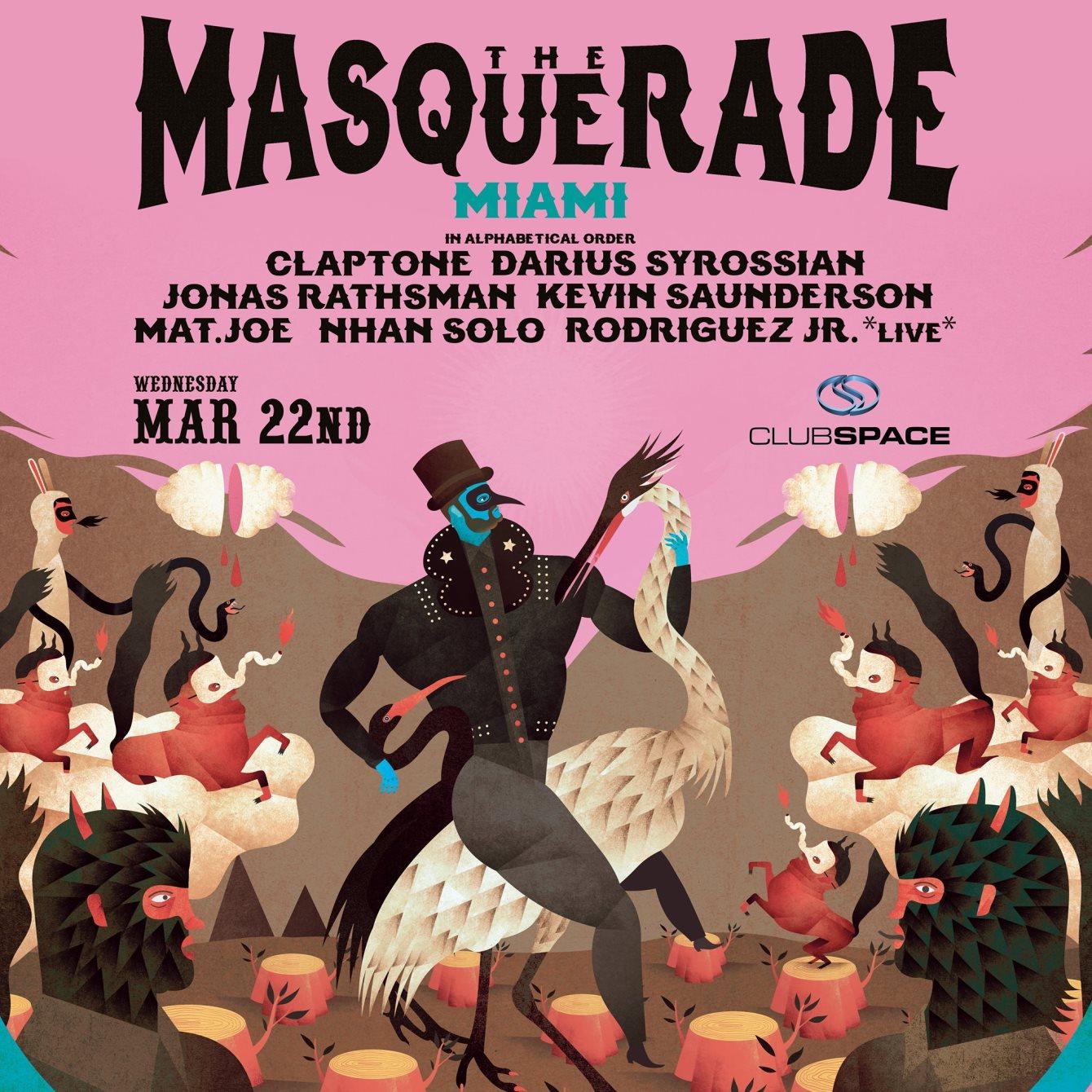 Claptone presents Masquerade Miami - Terrace - Flyer front