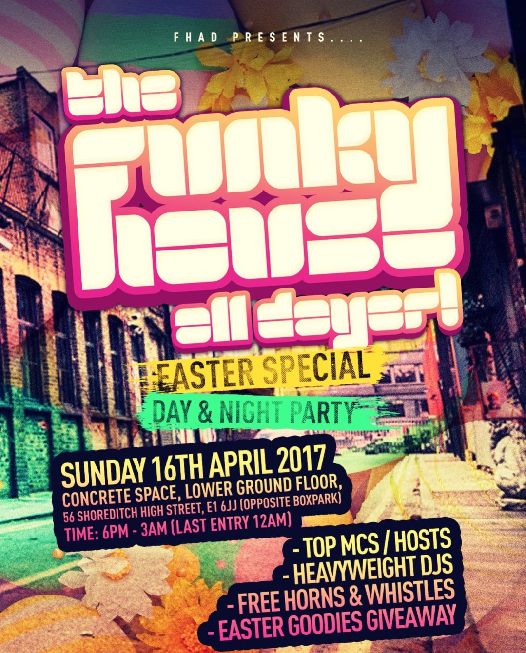 The Funky House All Dayer - Easter Special [Day & Night Party] - Flyer front