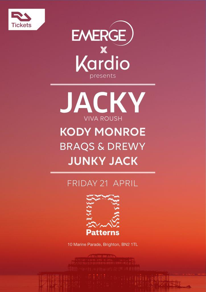 Emerge x Kardio with Jacky - Flyer front