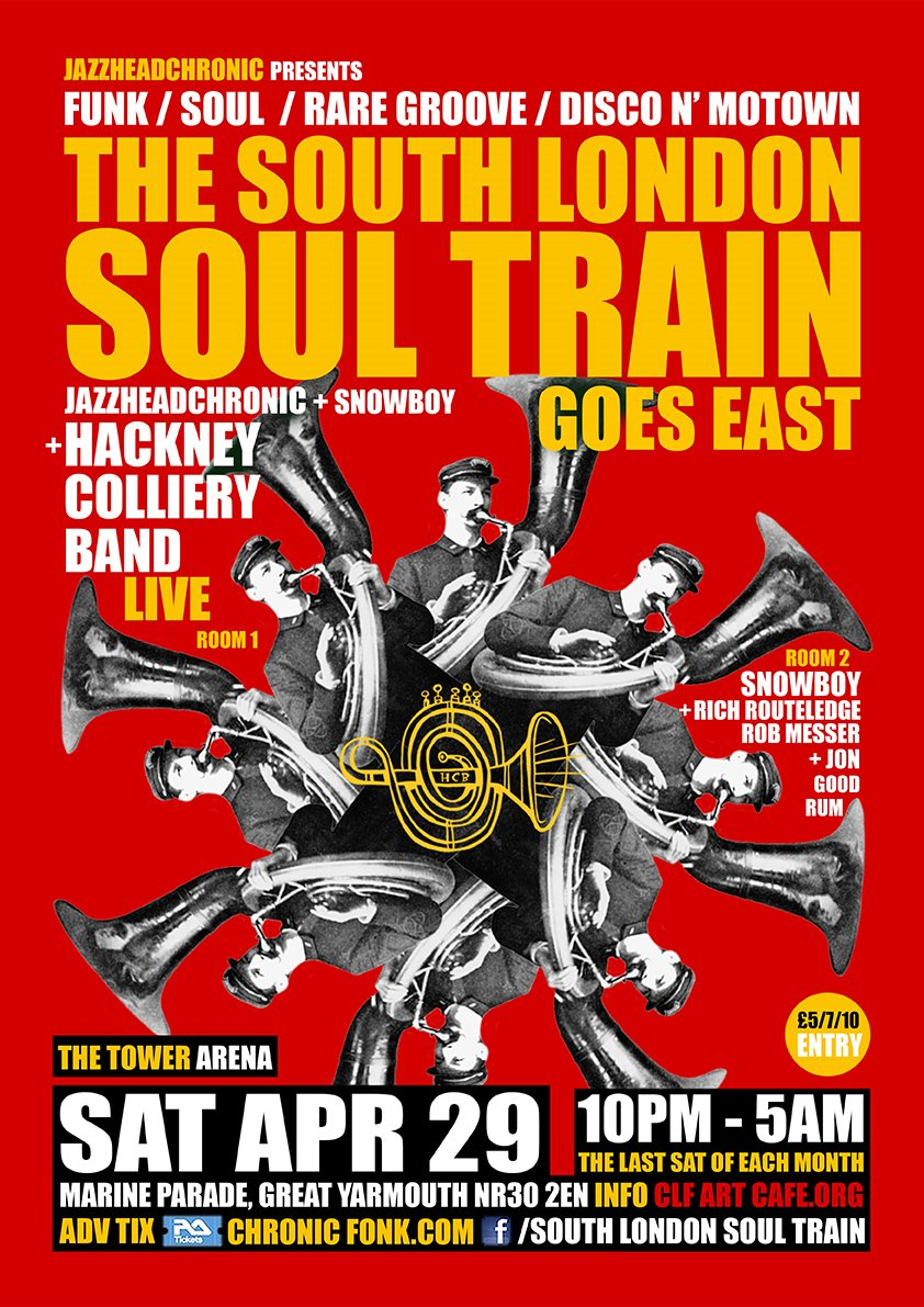 The South London Soul Train Prince 1 Year Anniversary Special - More on 4 Floors - Flyer back