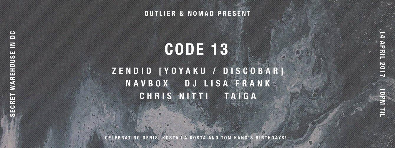 Code 13 - Flyer front