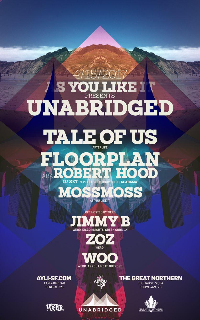 Unabridged: Tale of Us & Floorplan (Opening Event) - Flyer front