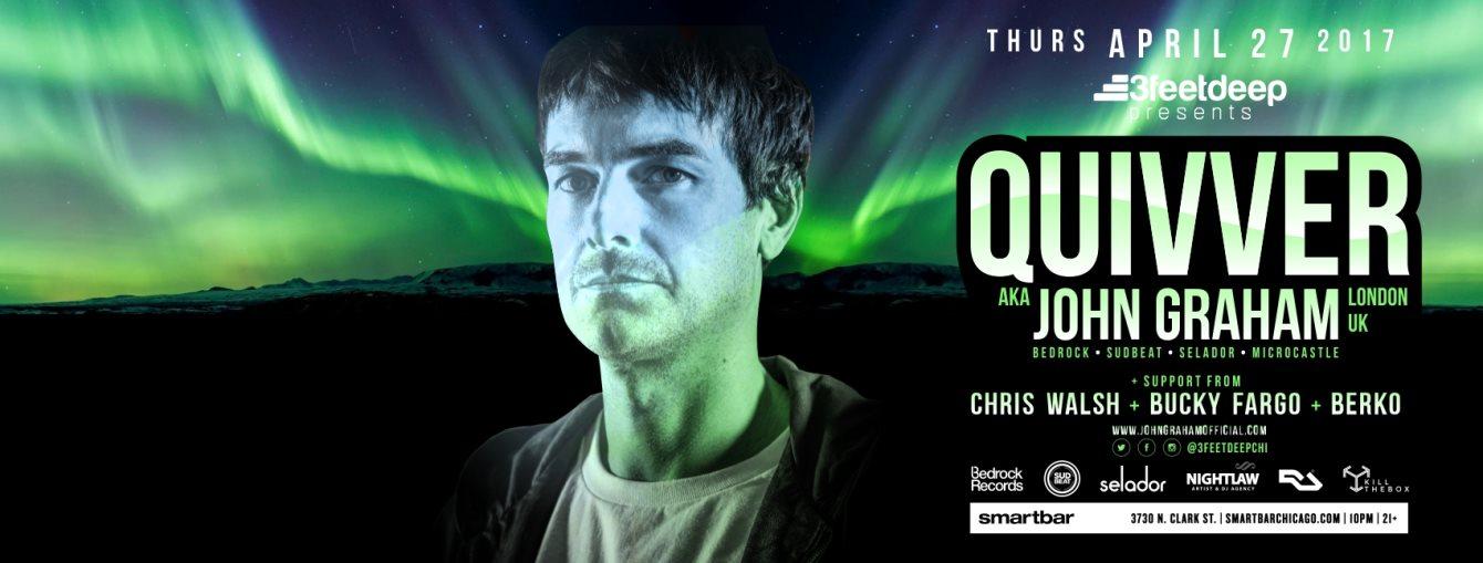 3feetdeep presents: Quivver aka John Graham (Bedrock, Sudbeat, Selador - London UK) - Flyer back