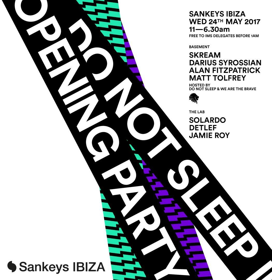 Do Not Sleep Opening Party - Flyer front
