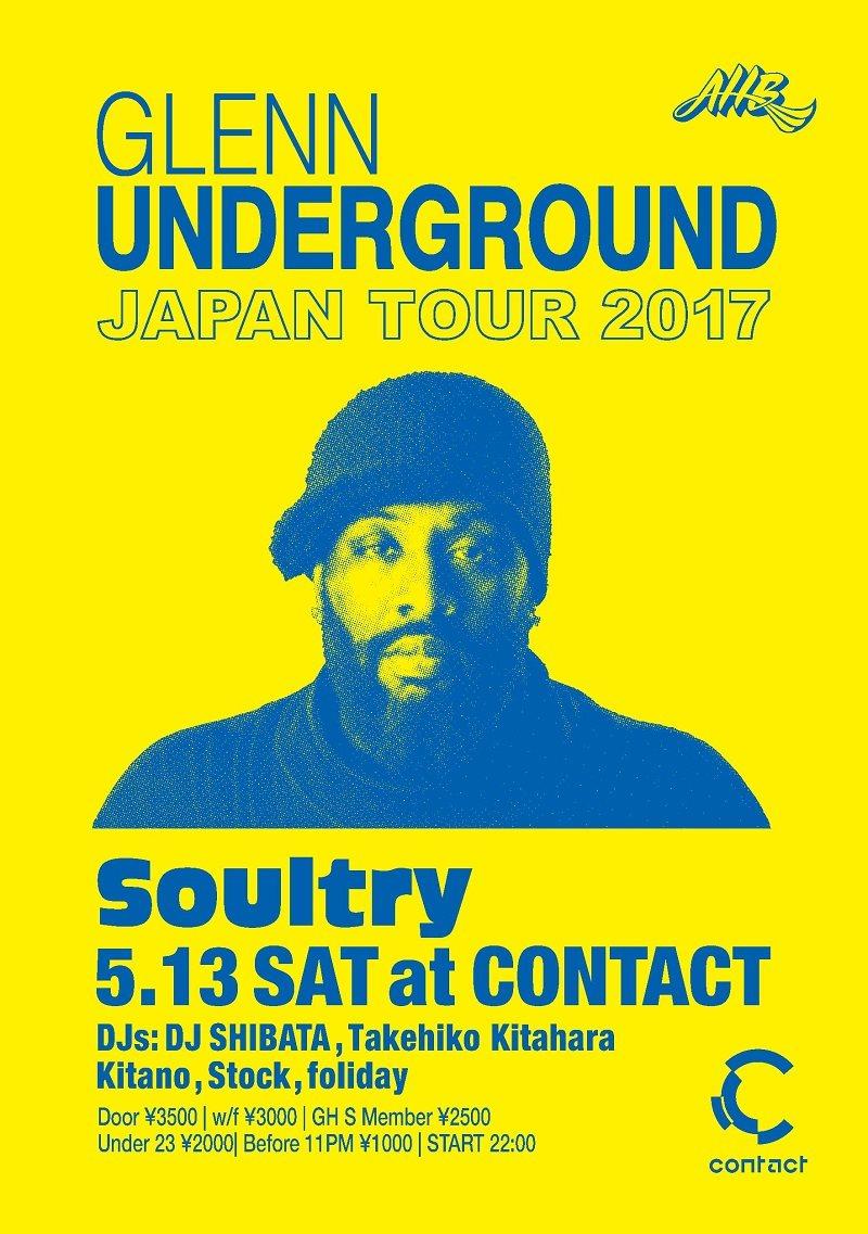 Soultry -Glenn Underground Japan Tour 2017 - Flyer front