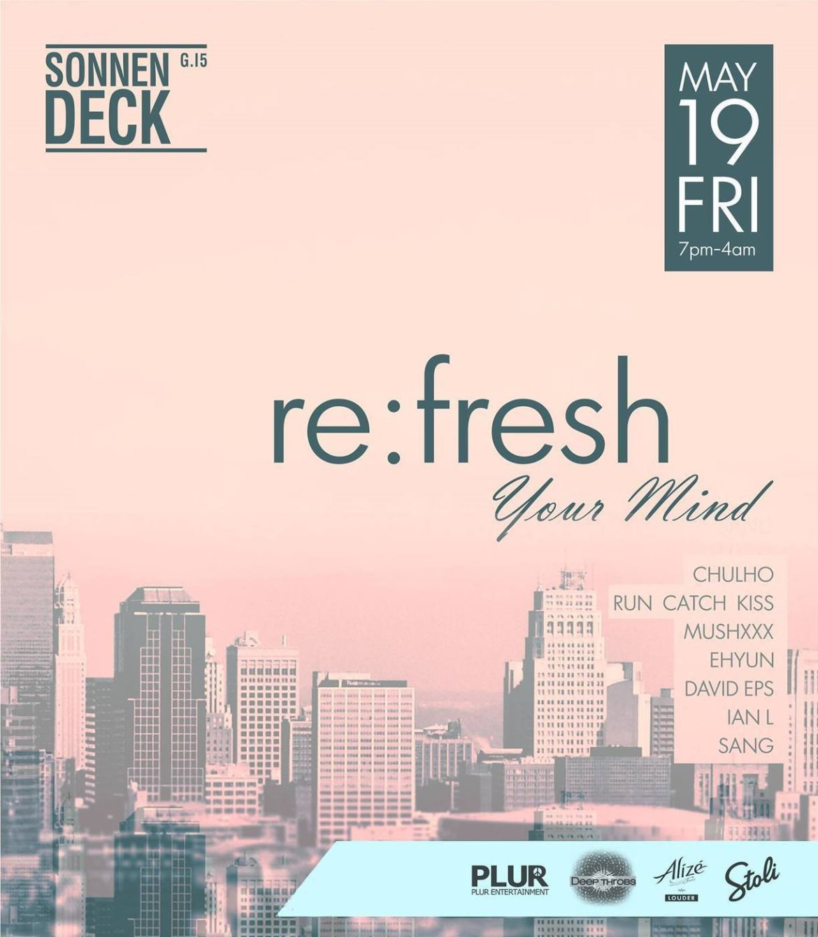 Re:Fresh Your Mind presented by Deepthrobs - Flyer front
