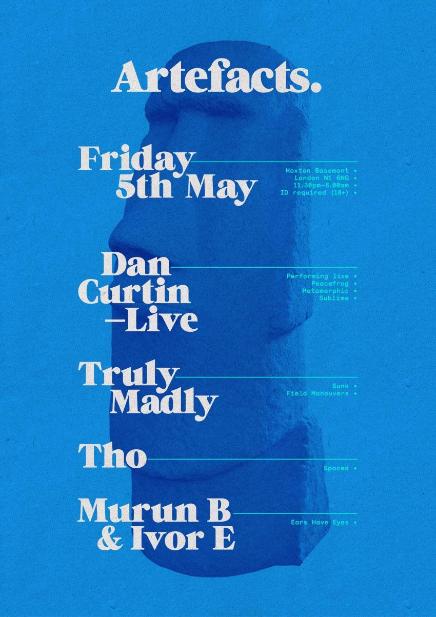 Artefacts 001 with Dan Curtin Live & Truly Madly - Flyer back