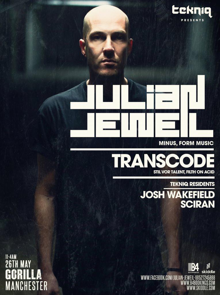 Tekniq- Tek005 with Julian Jeweil & Transcode - Flyer front