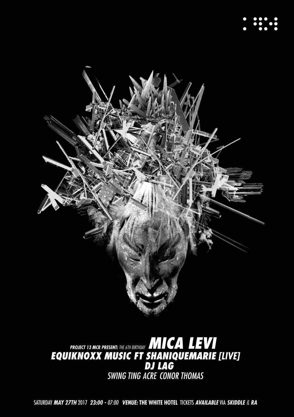 P13: Mica Levi / Equiknoxx / DJ Lag / Swing Ting - Flyer front