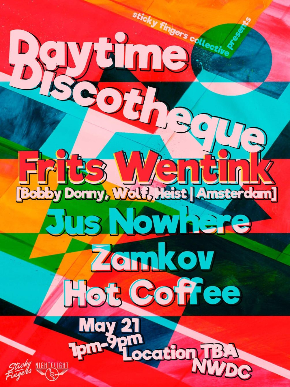 *Forward Closing Party* Daytime Discothéque with Frits Wentink - Flyer front