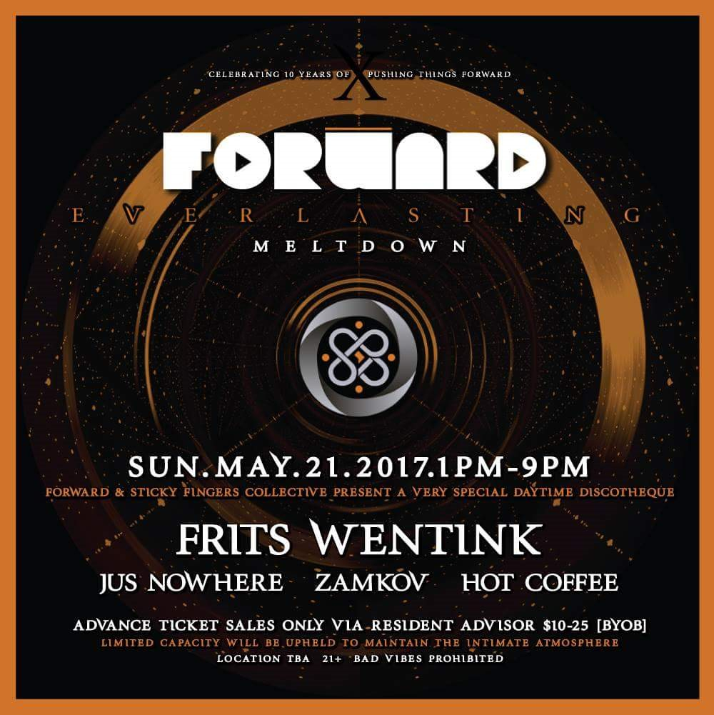 *Forward Closing Party* Daytime Discothéque with Frits Wentink - Flyer back