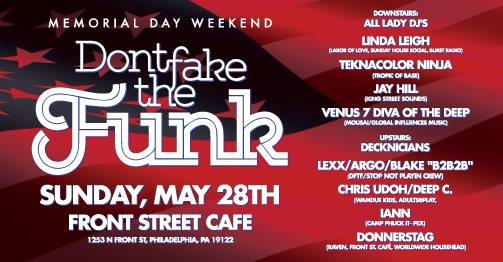 Don't Fake The Funk - Flyer front