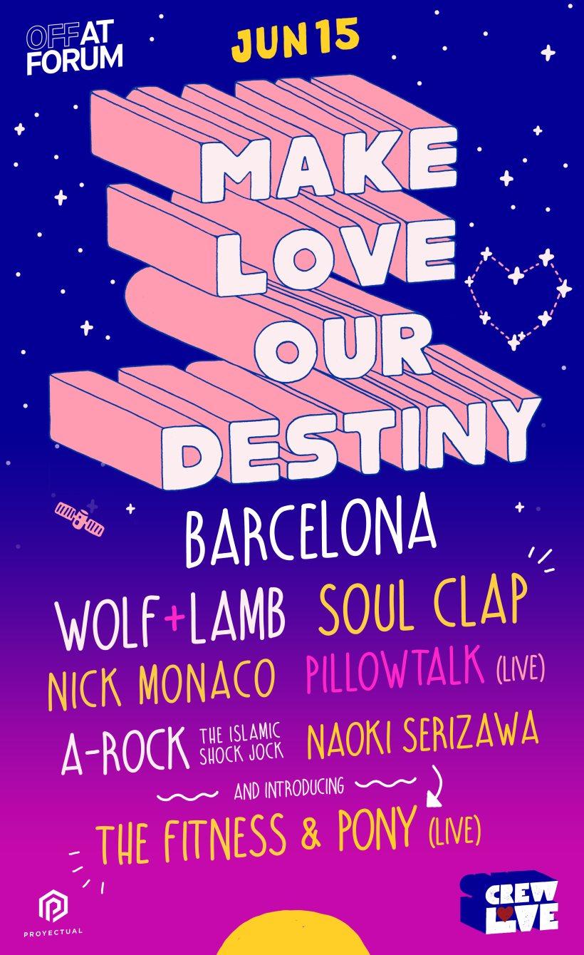 Soul Clap & Wolf + Lamb present Crew Love - Flyer front