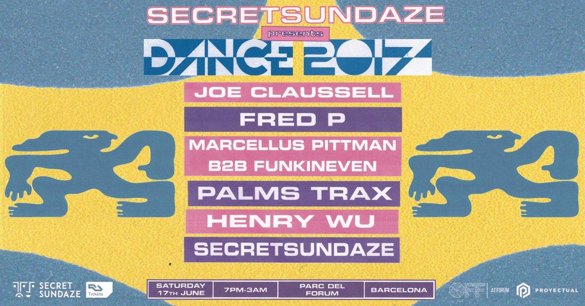 Secretsundaze presents Dance 2017 - Flyer front