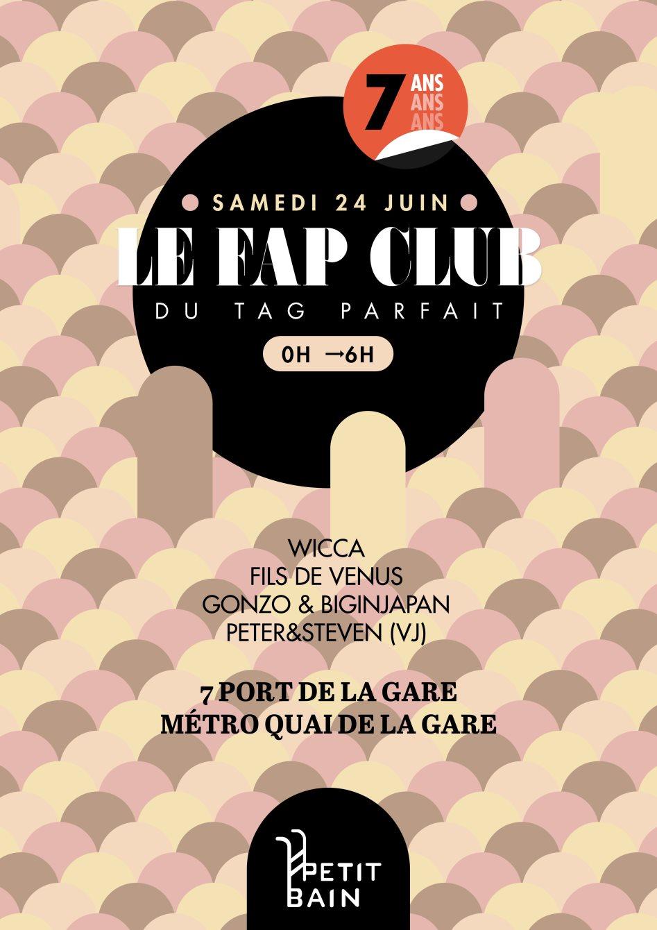Le Fap Club des 7 ans du Tag Parfait - Flyer front