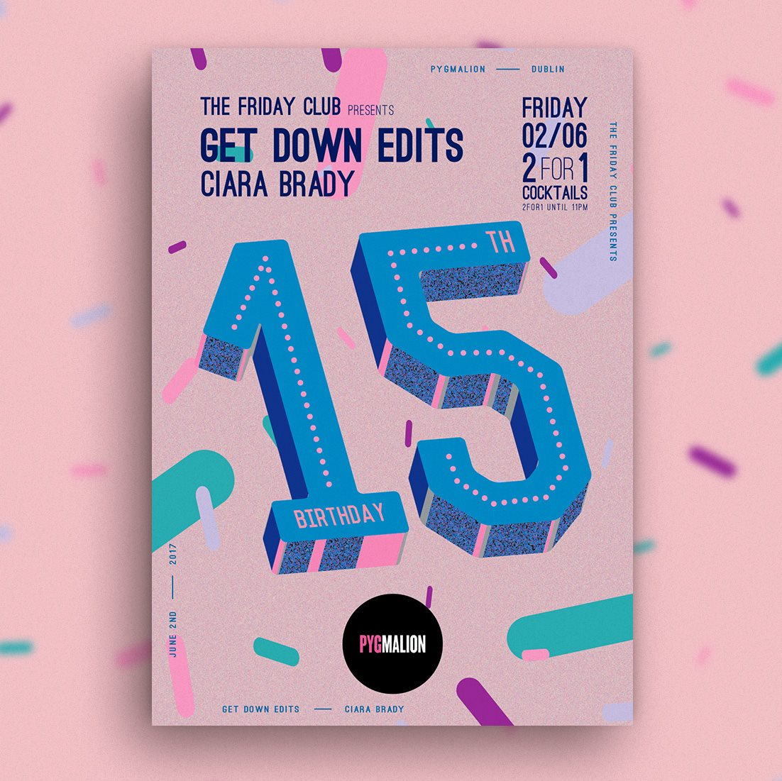 Pyg presents Get Down Edits - Flyer front