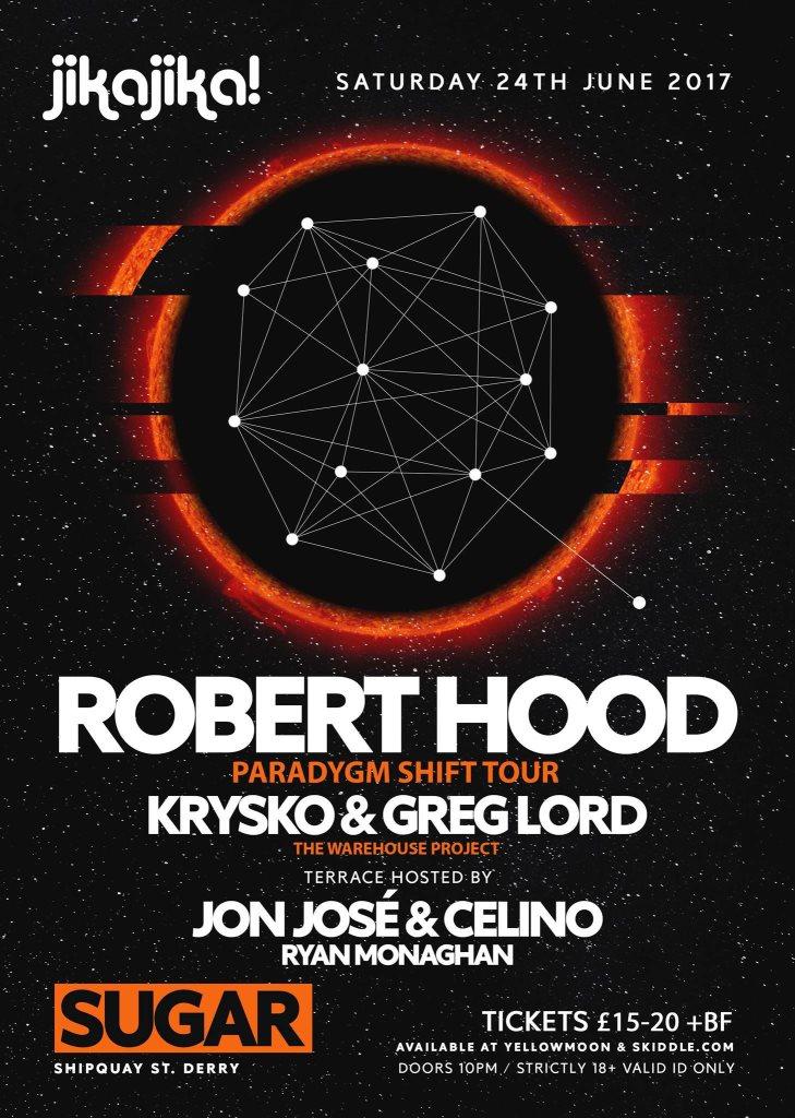 Jika Jika presents Robert Hood, Krysko & Greg Lord - Flyer front