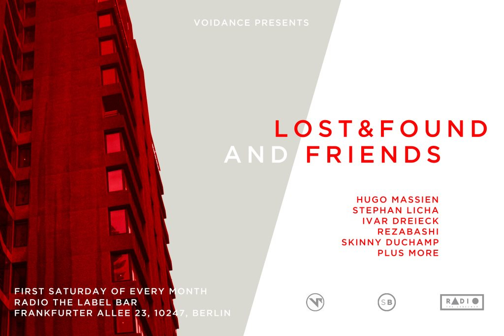 Voidance presents Lost & Found and Friends - Flyer front