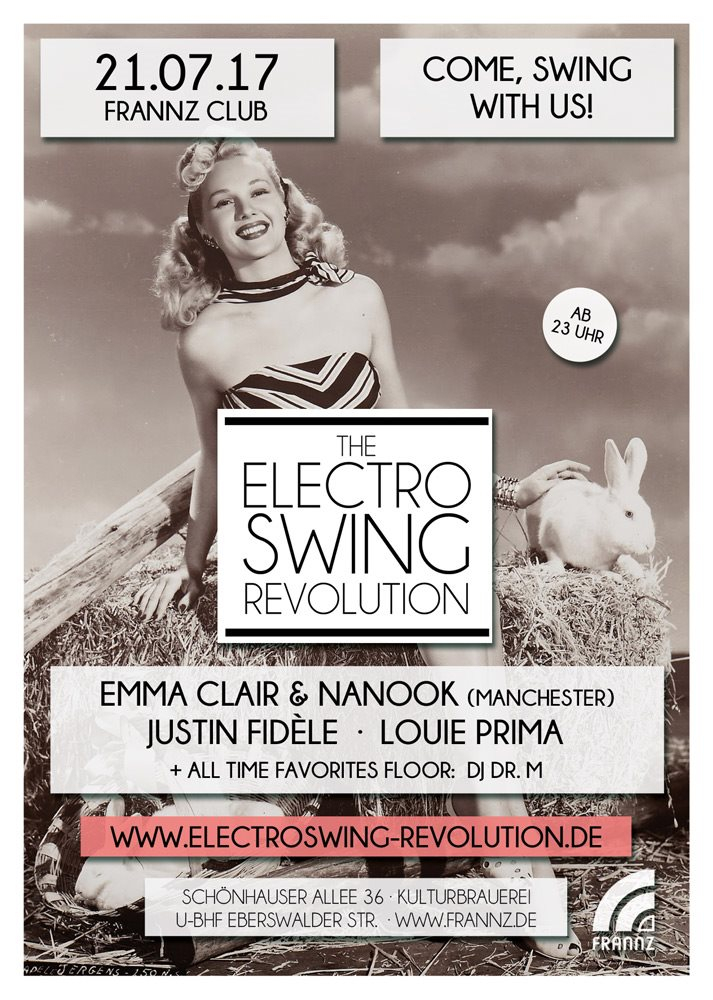 Electro Swing Revolution - Flyer front