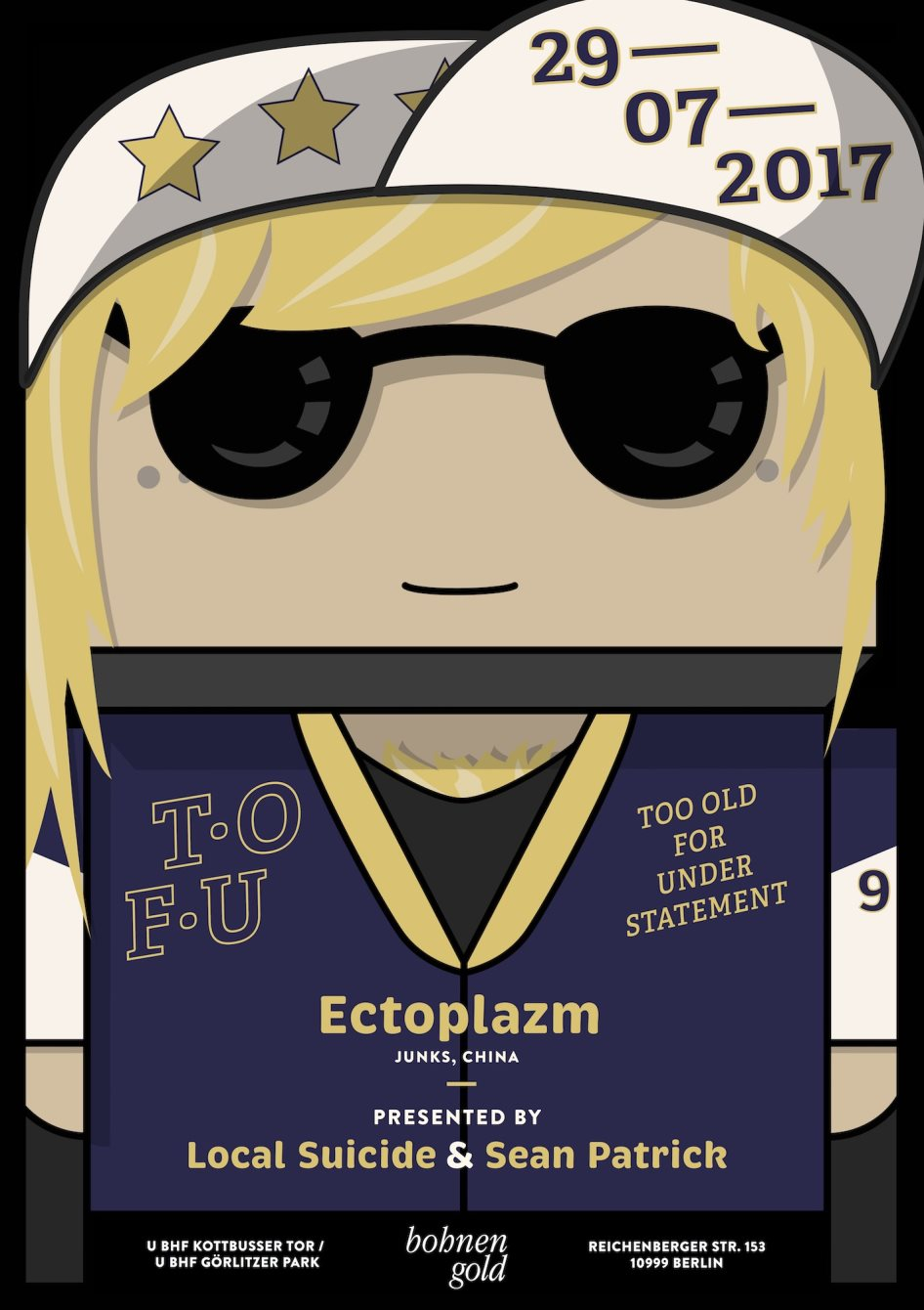 We are Tofu with Ectoplazm - Flyer front