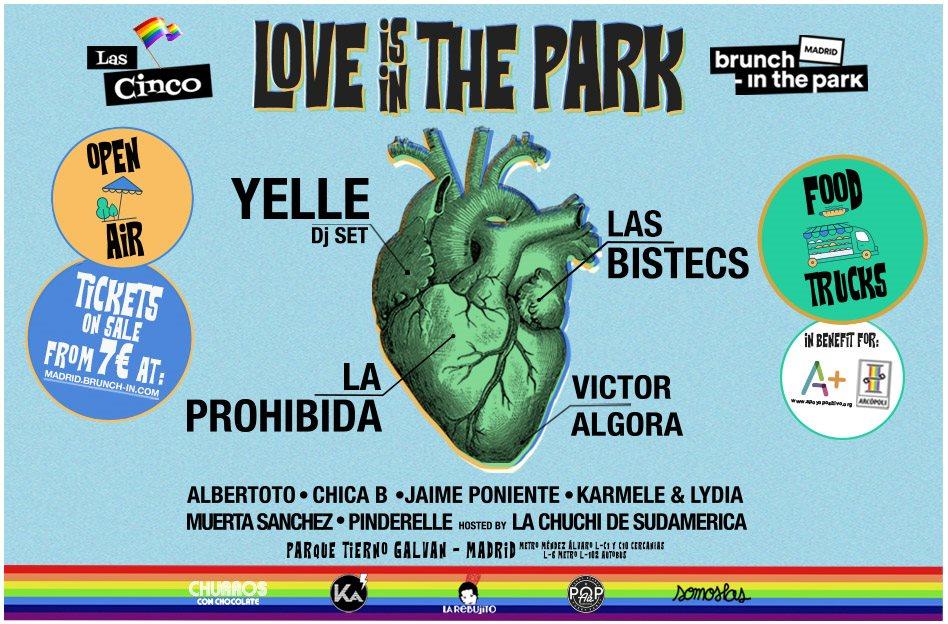 Love Is In the Park with Yelle, Las Bistecs, La Prohibida, Victor Algora y más - Flyer back